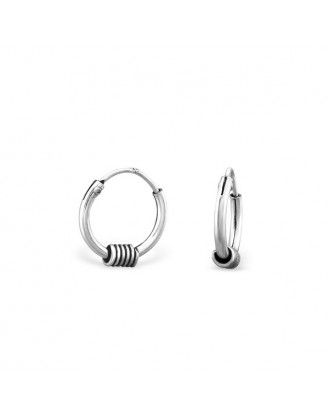 "1,2x10 Stříbrné kruhové náušnice ""Utile"". Ag 925/1000"