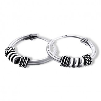 "1,2x12 Stříbrné kruhové náušnice ""Gloria"". Ag 925/1000"