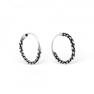 "Stříbrné náušnice kruhy ""Bali"". Ag 925/1000"
