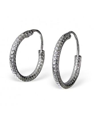 """Stříbrné kruhové náušnice """"Vesperum"""". Ag 925/1000"""