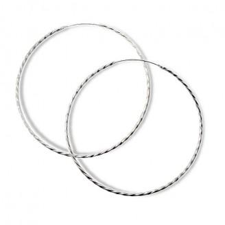 """Stříbrné náušnice kruhy """"Silvia"""". 2x80. Ag 925/1000"""