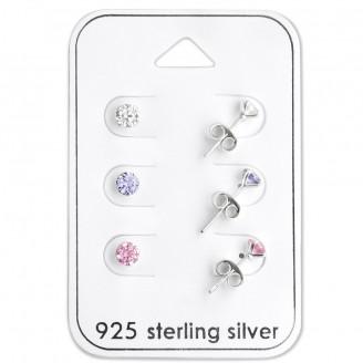 """Souprava dětských stříbrných náušnic """"Colorum"""". Ag 925/1000"""