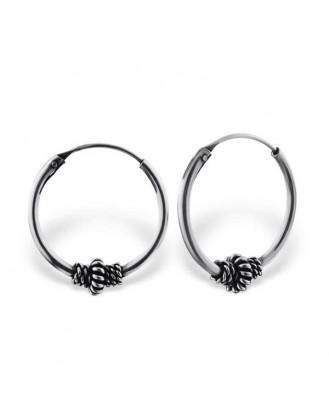 "4x16 Stříbrné kruhové náušnice ""Ceruchae"". Ag 925/1000"