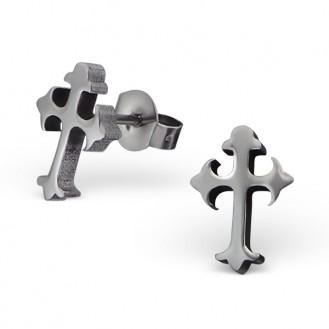 """Náušnice z chirurgické oceli """"Křížky"""""""