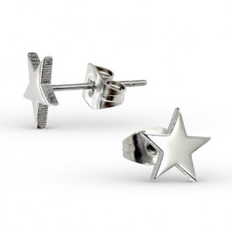 """Náušnice z chirurgické oceli """"Hvězdička"""""""