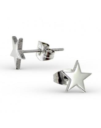 """Náušnice z chirurgické oceli """"Hvězdice"""""""