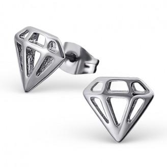 """Náušnice z chirurgické oceli """"Diamant"""""""