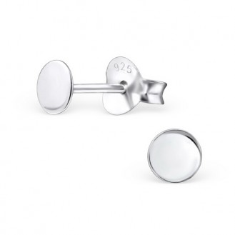 "Stříbrné náušnice ""Stříbrný krystal"". flat. Ag 925/1000"