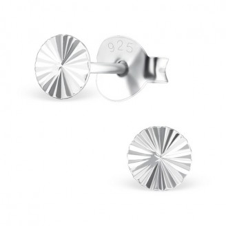 """Stříbrné náušnice """"Stříbrný krystal"""". dc1. Ag 925/1000"""