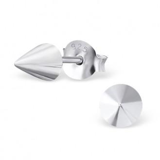 """Stříbrné náušnice pecky """"Stříbrný kužel"""". Ag 925/1000"""