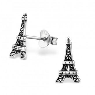 """Stříbrné náušnice """"Eiffelova věž"""". ox. Ag 925/1000"""