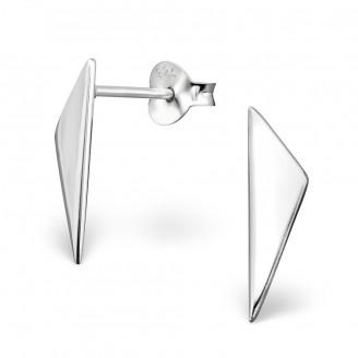 """Stříbrné náušnice pecky """"Triangulum"""". Ag 925/1000"""