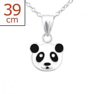 """Dětský náhrdelník stříbrný """"Panda méďa"""". Ag 925/1000"""