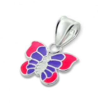 """Dětský přívěsek stříbrný """"Kouzelné motýli"""". Ag 925/1000"""