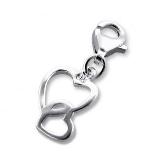 """Stříbrný přívěsek na náramek """"S láskou"""". Ag 925/1000"""