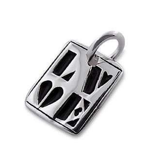 """Stříbrný přívěsek """"Láska"""". Ag 925/1000"""