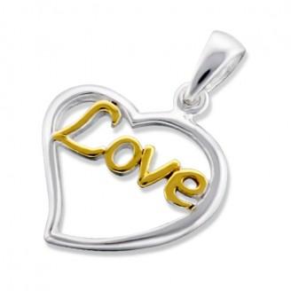 """Stříbrný přívěsek """"Láska ve tvém srdci"""". Ag 925/1000"""