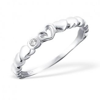 "Stříbrný prsten se zirkonem ""Eva"". Ag 925/1000"