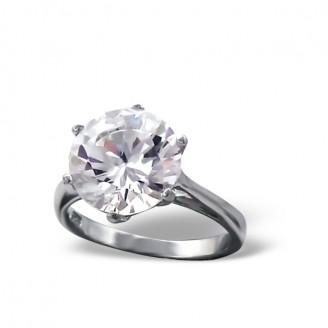 """Stříbrný prsten se zirkonem """"Blesk"""". Ag 925/1000"""