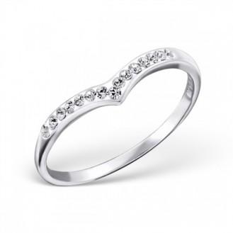 """Stříbrný prsten s krystaly """"Patricia"""". Ag 925/1000"""