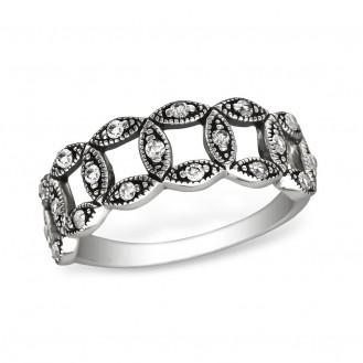 """1,9x7 Stříbrný prsten se zirkony """"Related"""". cry. Ag 925/1000"""
