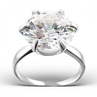 """Stříbrný prsten se zirkonem """"Clémence"""". Ag 925/1000"""