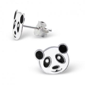 """Dětské stříbrné náušnice """"Panda"""". Ag 925/1000"""