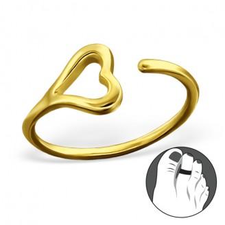 """Pozlacený stříbrný prstýnek na nohu """"Cupido"""" gp. Ag 925/1000"""