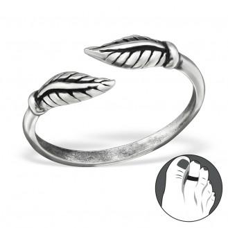 """Stříbrný prsten na nohu """"Termes"""". ox. Ag 925/1000"""