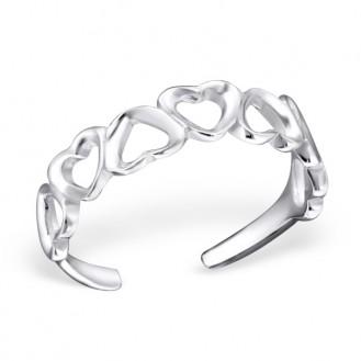 "Stříbrný prsten na nohu ""Amor"". Ag 925/1000"