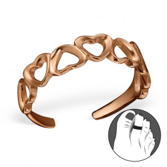 "Pozlacený stříbrný prstýnek na nohu ""Amor"" rgp. Ag 925/1000"