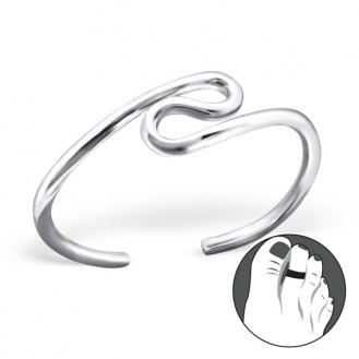"""Stříbrný prstýnek na nohu """"Bludiště života"""". Ag 925/1000"""