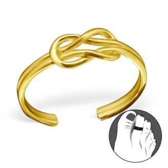 "Pozlacený stříbrný prsten na nohu ""Implicitum"". gp. Ag 925/1000"