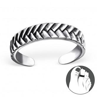 """Stříbrný prsten na nohu """"Plectam"""". Ag 925/1000"""