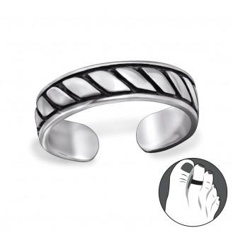 "Stříbrný prsten na nohu ""Antiquis"". Ag 925/1000"