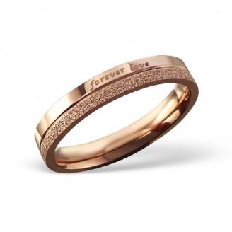"""Pozlacený prsten z chirurgické oceli """"Forever love"""""""