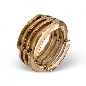 """Prsten z chirurgické oceli pozlacený """"Wendell"""""""