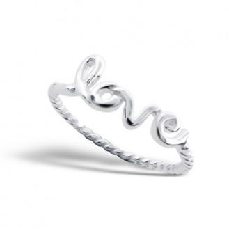 "Stříbrný prsten ""Láska"". Ag 925/1000"