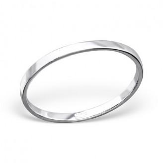 "Stříbrný prsten ""Simplicitat"". 1x1,8 Ag 925/1000"