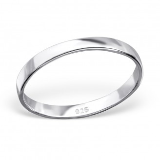 "Stříbrný prsten ""Simplicitat"". 1x2,4 Ag 925/1000"