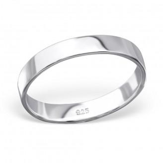 "Stříbrný prsten ""Simplicitat"". 1x4 Ag 925/1000"