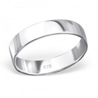 "Stříbrný prsten ""Simplicitat"". 1x4,4 Ag 925/1000"