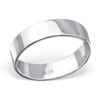 "Stříbrný prsten ""Simplicitat"". 1x5 Ag 925/1000"