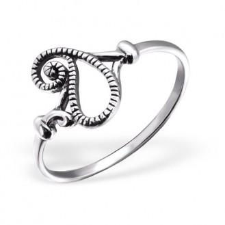 "Stříbrný prsten ""Slza"". Ag 925/1000"