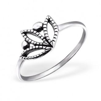 "Stříbrný prsten ""Tulipan"". Ag 925/1000"