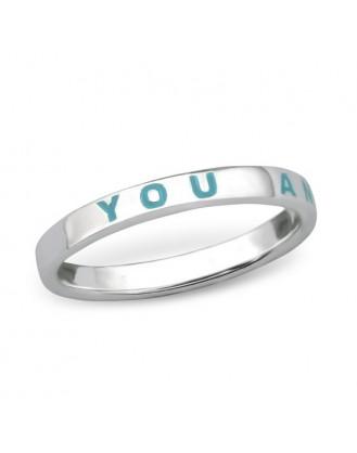 """1,4x2,5 Stříbrný prsten """"You and Me"""". Ag 925/1000"""