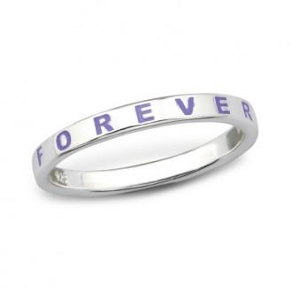 "Stříbrný prsten ""Forever"". 1,4x2,5 Ag 925/1000"