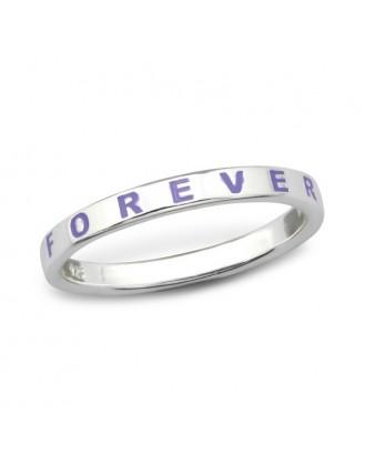 "1,4x2,5 Stříbrný prsten ""Forever"". Ag 925/1000"