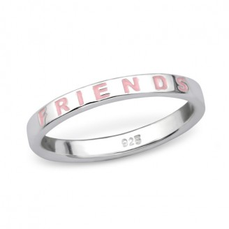 "Stříbrný prsten ""Best friends"". 1,4x2,5 Ag 925/1000"