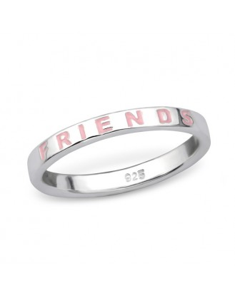 "1,4x2,5 Stříbrný prsten ""Best friends"". Ag 925/1000"